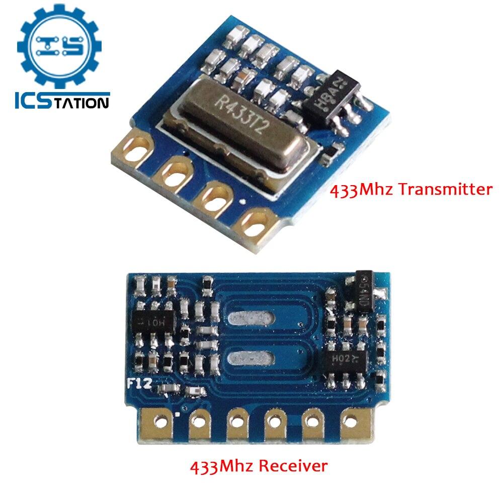Transmisor y receptor RF inalámbrico H34A H3V4F ASK OOK, modulación DC 3-12V, módulo inalámbrico artesanal, 433Mhz