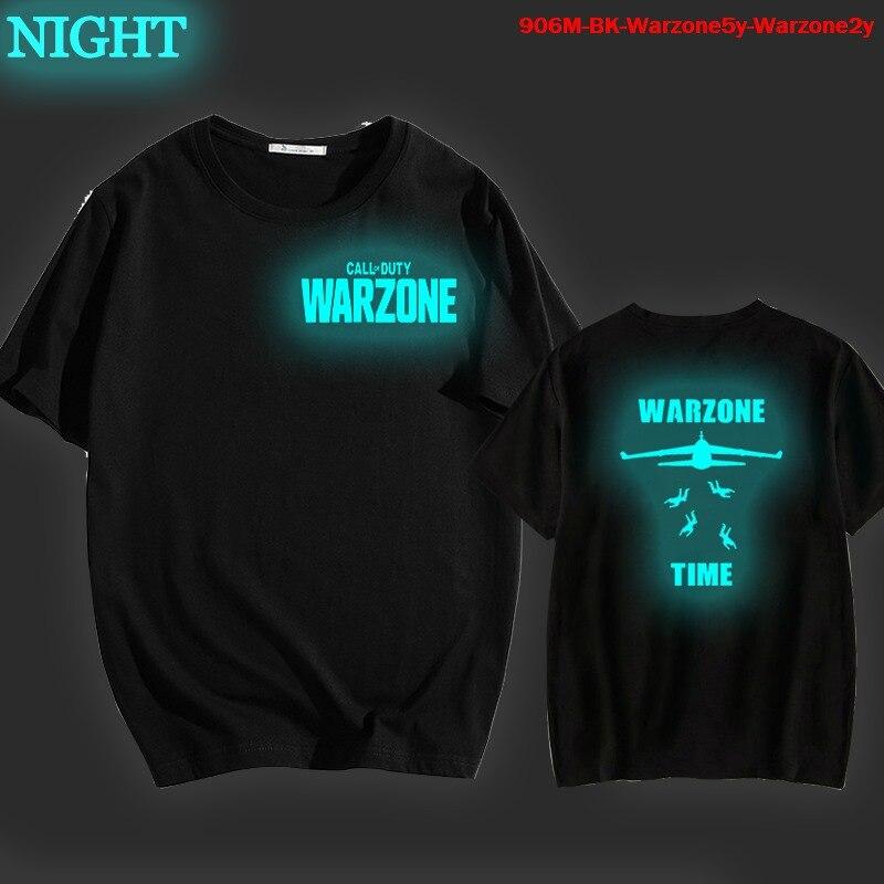 Camiseta luminosa a la moda para hombres y mujeres, camisa de manga...