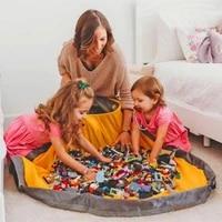 1 5m kids play mat toy storage bags oversized organizer play mat capacity durable storage bag basket outdoor building blocks mat