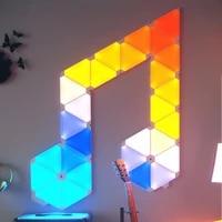 Nanoleaf     Triangle nuit pleine couleur  lumiere bizarre intelligente  fonctionne avec Mijia pour Apple Homekit  parametres personnalises Google Home  nouveau