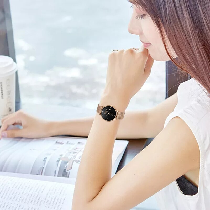 SUNKTA Women Watches Woman Dress Top Brand Luxury Watch Quartz Wrist Watches For Women Clocks Relogio Feminino +Gift Box enlarge