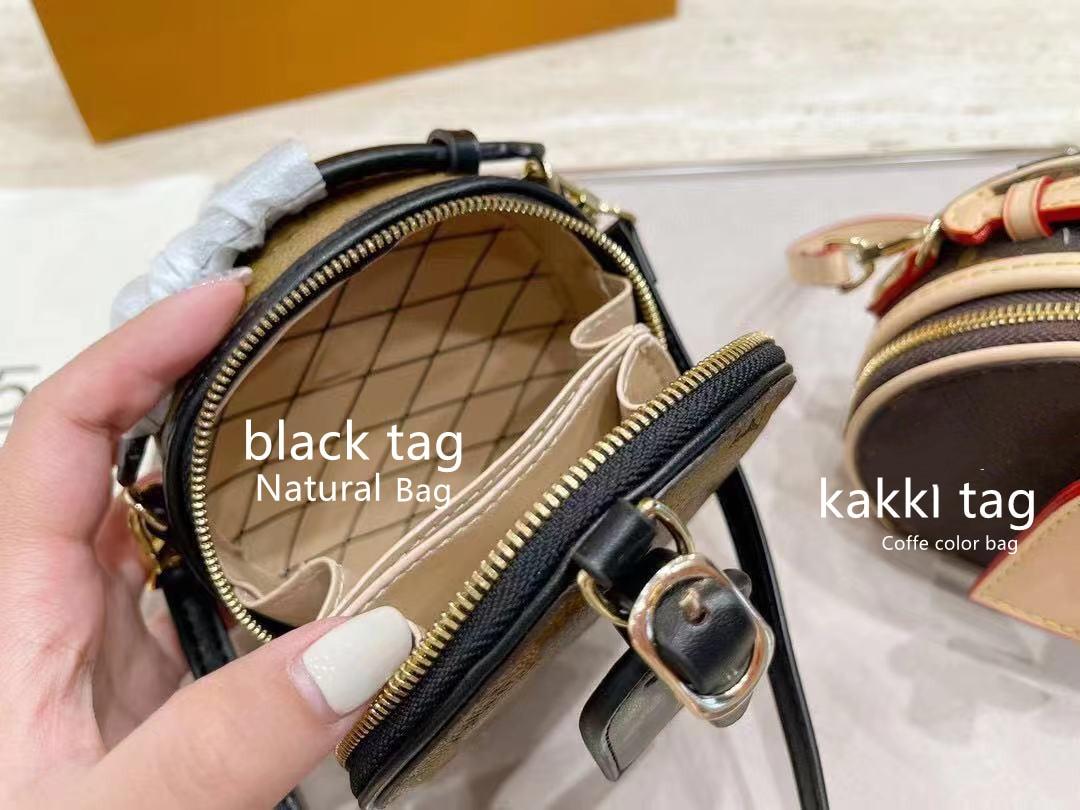 Hiboom شكل دائري صغير حقائب كروسبودي المرأة قضية الهاتف المحمول حقائب اليد