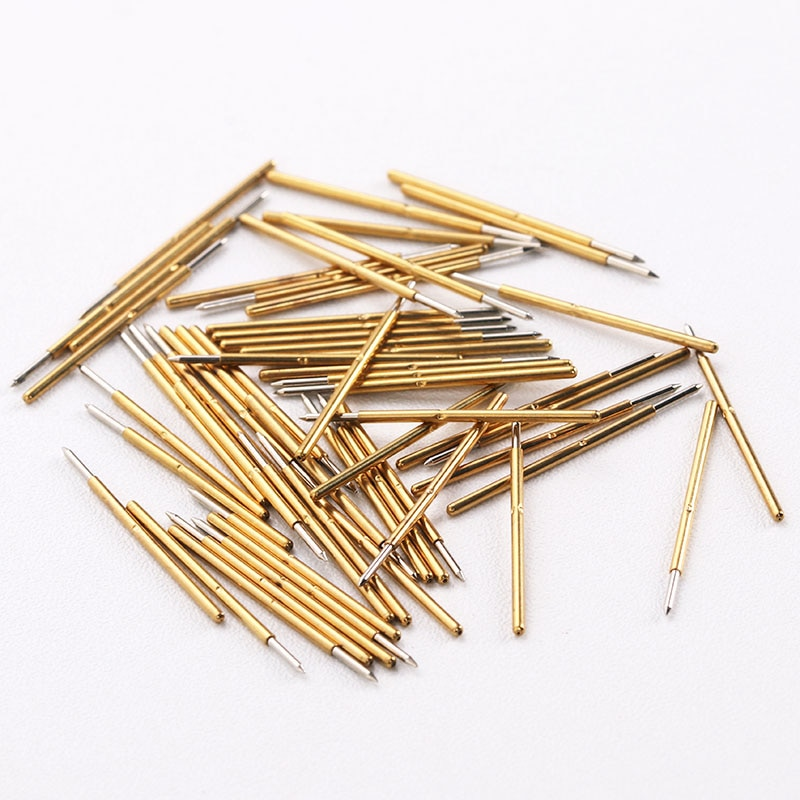 Hot Selling P50 Series Nickel Plated Test Probe Electronic Spring Detection Needle 100 Pcs/Bag Brass Pogo Pins For Tools