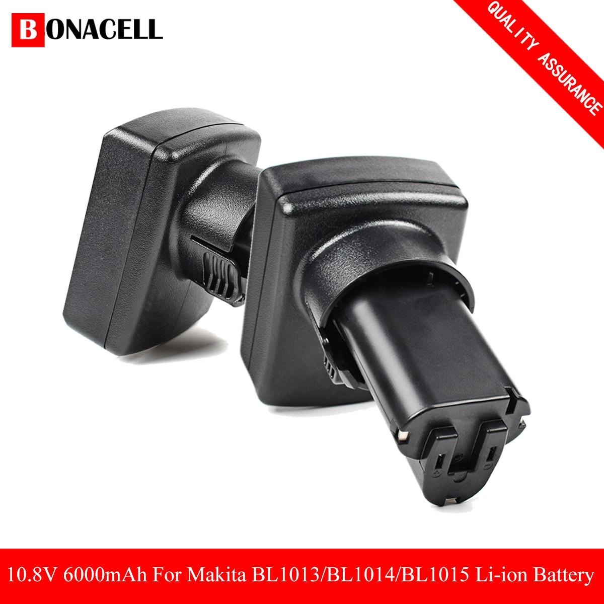 bonacell 10.8V 6000mAh Lithium Battery for Makita BL1013 TD090D TD090DW LCT203W LCT204 194550-6 & 4.0ah & 3.0ah L70