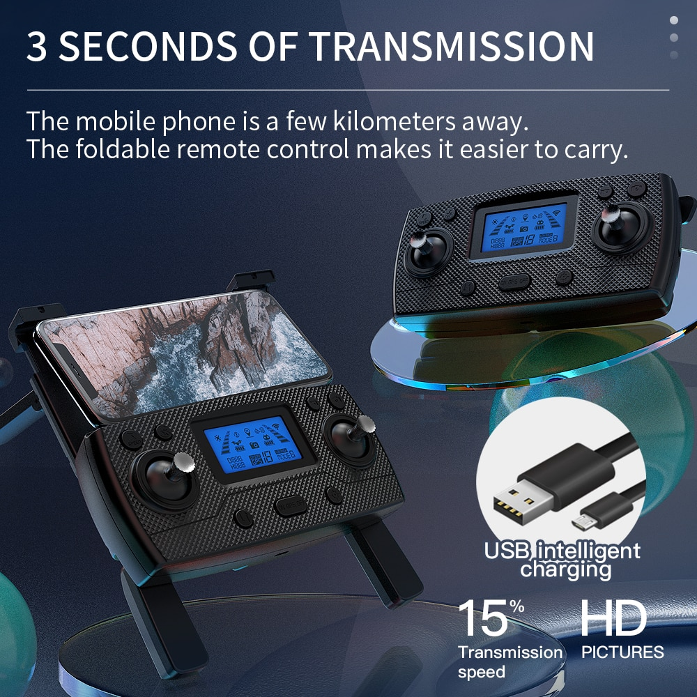 2021 NEW SG907 MAX / SG907 Pro Drone GPS 5G WIFI 4k HD Mechanical 3-Axis Gimbal Camera Supports TF Card RC Drones Distance 800m enlarge