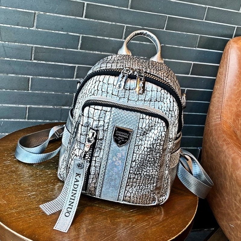 New Fashion Women's Backpacks 2021 Large Capacity Sac A Dos Soft Leather School Bags Wide Strap Shoulder Luxury Mochila Mujer