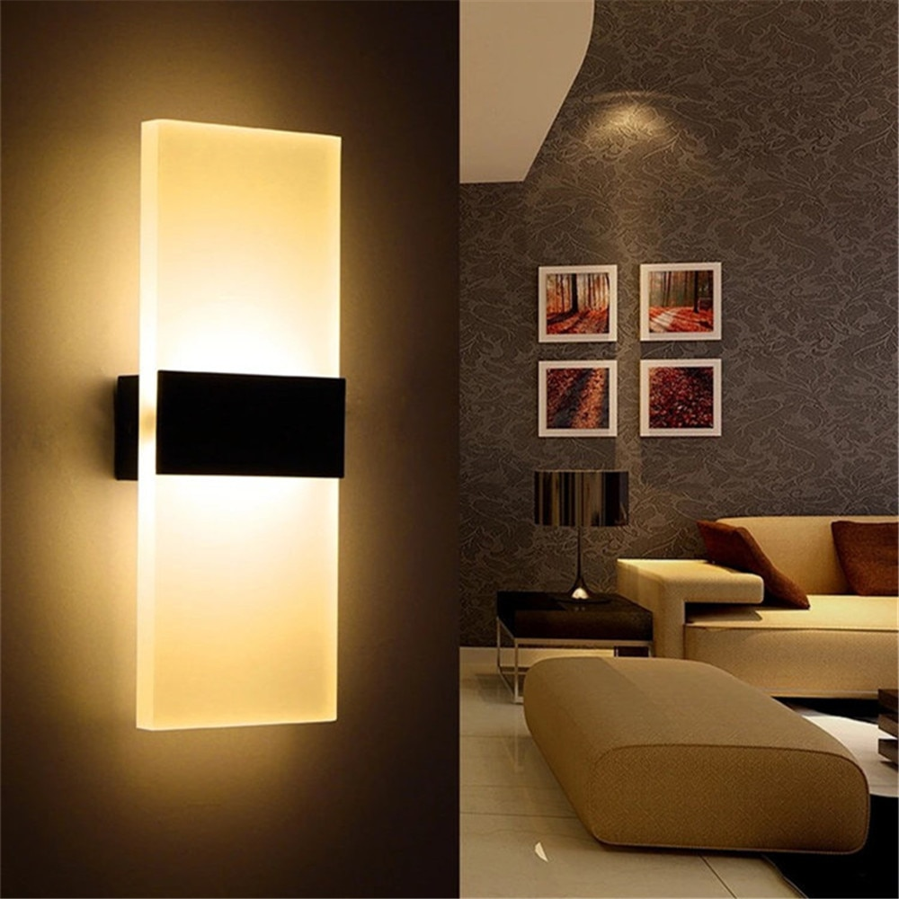 Indoor lighting LED wall lamp AC 85-265V simple square home bedroom bedside balcony aisle corridor