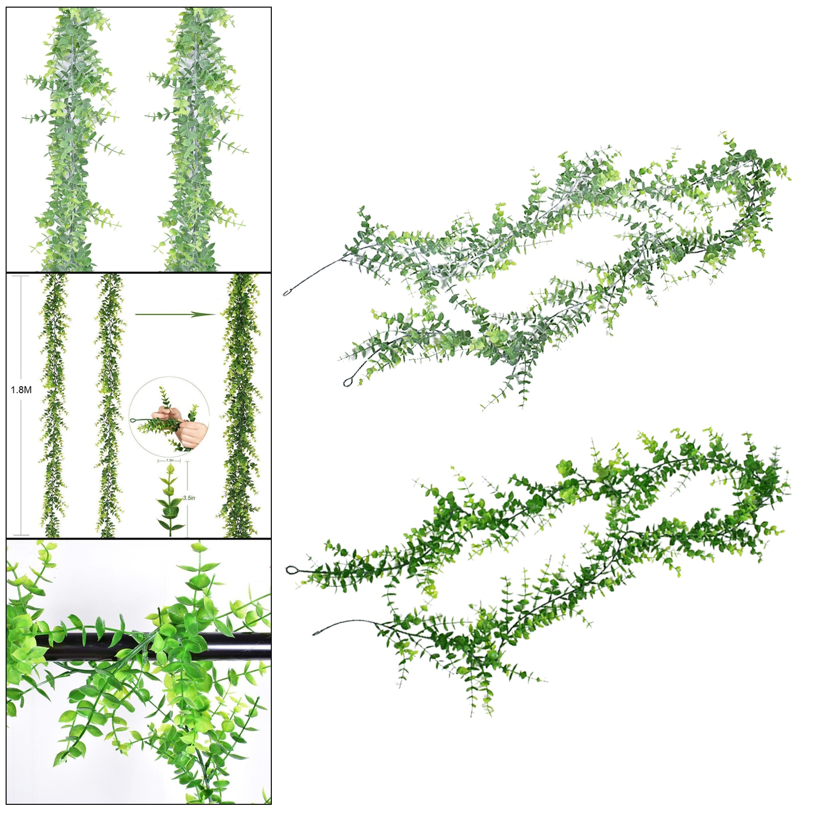 Artificial Eucalyptus Garland Hanging Fake Plant Vines for Valentine's Day  - buy with discount
