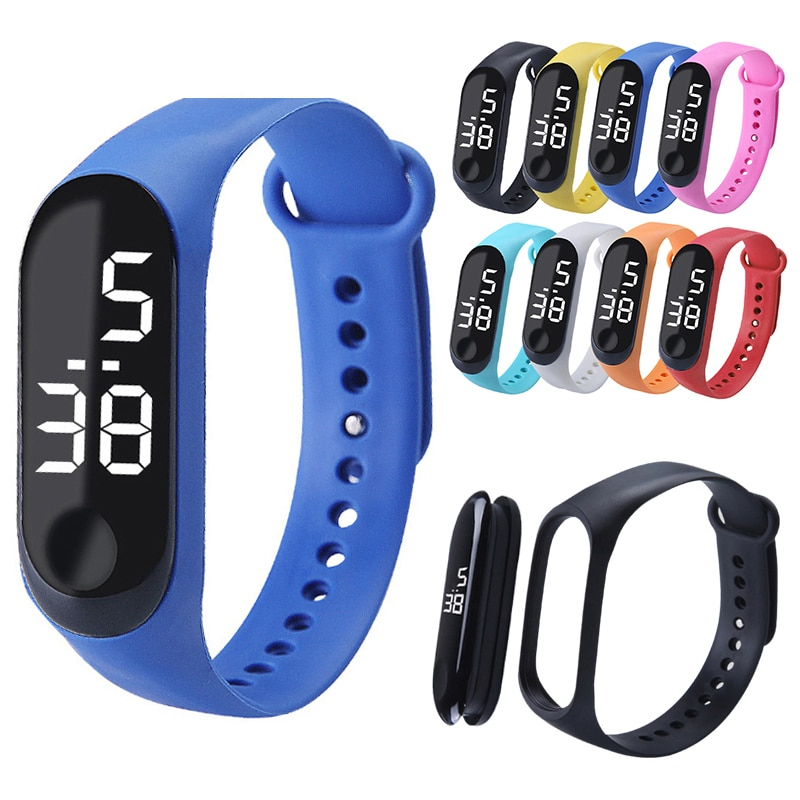 Smart Bracelet LED Digital Display Bracelet Fashion Electronic Bracelet Watch Students Couple Childr