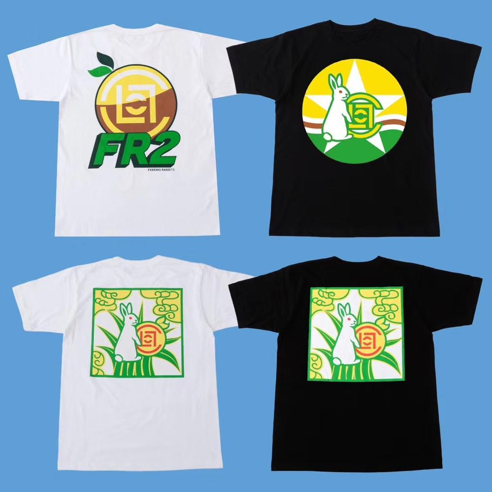 2020SS Fxxking conejos camiseta hombres mujeres alta calidad Top Tees Hip Hop Skateboard # FR2 camiseta