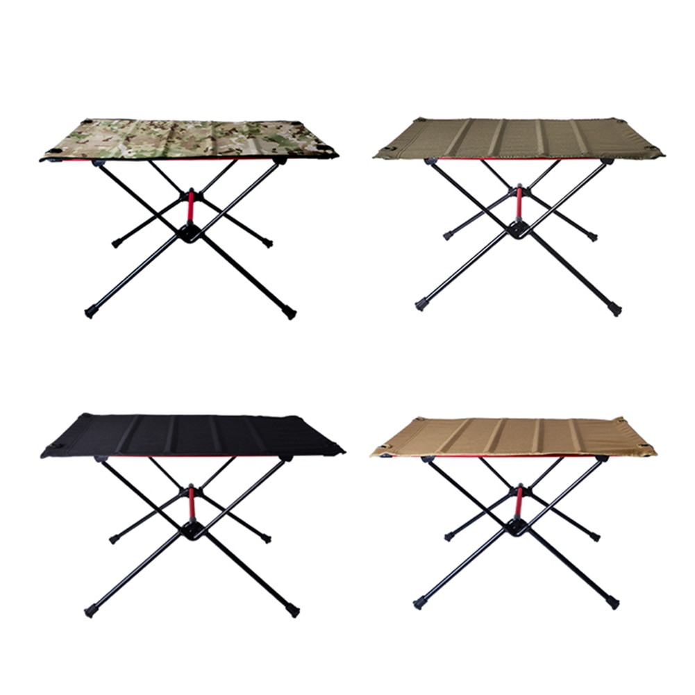 Portable Foldable Camping Table Aluminum Alloy Outdoor Furniture Dinner Desk for Family Party BBQ Pi
