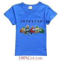dlf summer kids clothes short sleeve cartoon impostor printed t shirt for boys streetwear teenager baby girls short sleeves tops