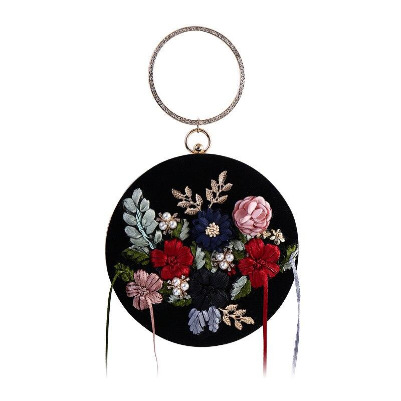 Круглые велюровые вечерние сумки женский клатч с кисточками сумка в стиле ретро