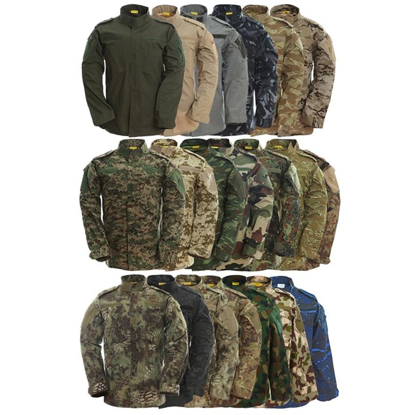 9Color Camouflage Army Mens Usmc Special Forces Military Uniform Combat Shirt Work Wear Tactical Plus Size Clothes Pant Set