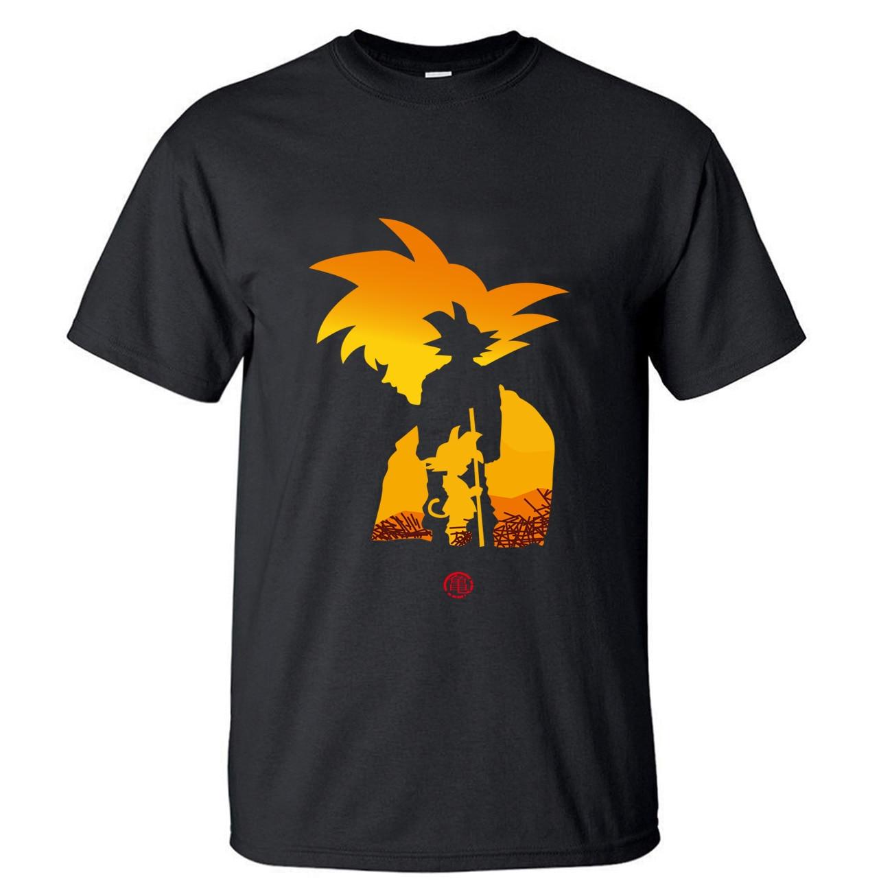 Camiseta Dragon Ball Z para hombre, camiseta Super Gohan, camisetas de verano, Tops de algodón de manga corta de Anime japonés, camiseta de Dragonball Harajuku