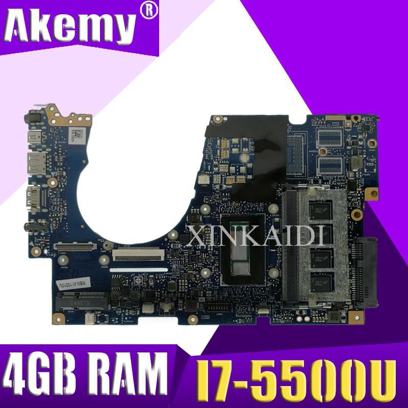Akemy UX303LAB اللوحة الأم لأجهزة الكمبيوتر المحمول ASUS UX303LA UX303LNB اللوحة الأم I7-5500U 4GB RAM 90NB04Y0-R05000