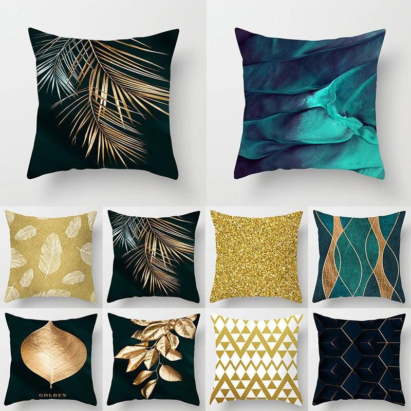 Чехол-Подушка зеленого цвета, чехол с геометрическим рисунком, домашний декор, Автомобильная подушка, чехол, милая подушка, чехол, чехол 45x45 ... чехол