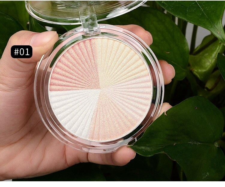 Private Label 5colors Highlighter Powder Glitter Palette Makeup Glow Face Contour Shimmer Illuminator Highlight Cosmetics Logo