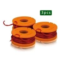 3pcstrimmer spool line wa0004 for worx wg 150e 151e 154e 155e 157e 160e 163e 165e 166e 167e 169e 175e string strimmer part