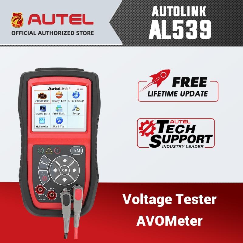 Autel AutoLink AL539 OBD II сканер автомобиля Инструменты диагностики может читать AVOmeter MIL Инструменты сканирования бесплатное обновление через веб-сайт