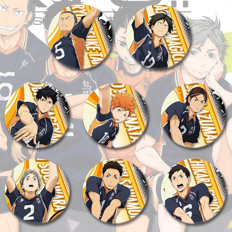 Значок аниме волейбол Юниор сезон 4 значок для мальчиков/девочек одежда художественные значки Декор 5,8 см