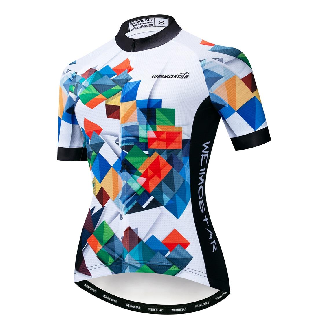 Top de Ciclismo para mujer, Maillot de Ciclismo de montaña, color rojo, rojo, 2019