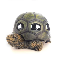 windproof turtle ashtray dark green resin ashtray decoration smoker cigarettes ash holder for home office outdoor patio