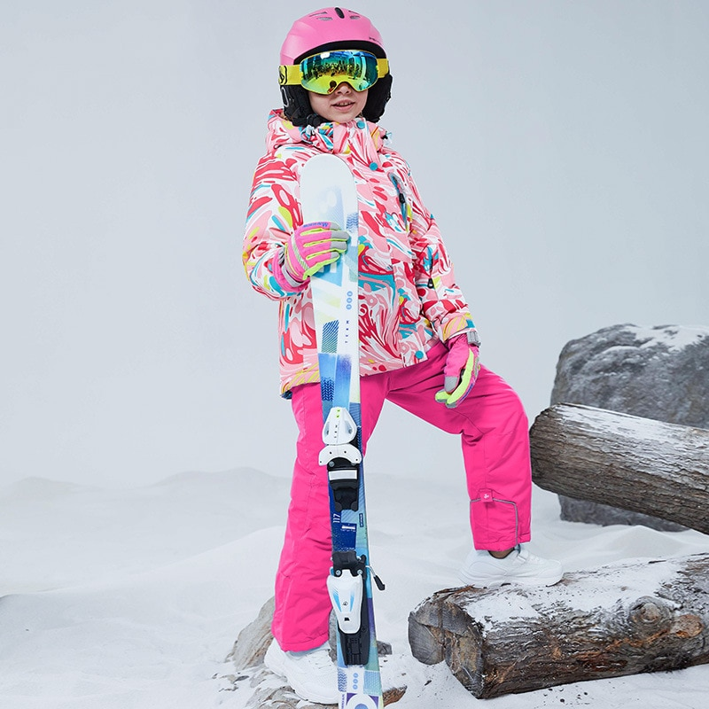Hooded Warm Baby Girls Snow Suits Outdoor Sport Teenager Kids Ski Sets Tracksuit Winter Children Outfits Windproof Clothes Set enlarge
