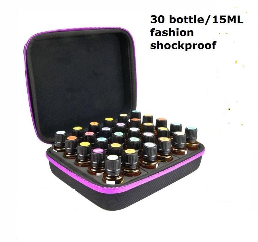 30 garrafa de óleo essencial de armazenamento caso de viagem portátil bolsa de transporte 5 ml 10 ml 15 ml pequena garrafa caixa de armazenamento sacos
