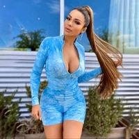 2021 spring womens sports suit trendy tie dye slim fit bag hip jumpsuit sports shape pants