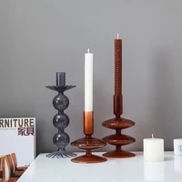 candle holders candlesticks candles candle jar vase home nordic decoration dried flower hydroponic drass candle holder