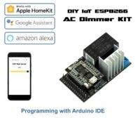 BRICOLAGE IoT AC-KIT Variateur  ESP8266 Wi-Fi D1 Mini pour AC 110   240V controle de gradation  Application pour maison intelligente  assistant