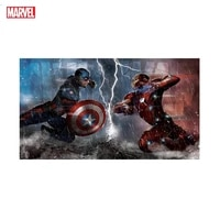 marvel posters avengers superhero captain america and iron man heroes on the wall art home decorate children room birthday gift