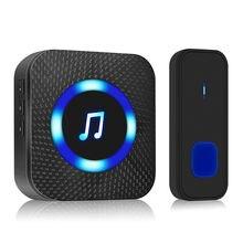 1000ft LED Wireless Doorbell Waterproof door bell Outdoor smart Door Bell Home Security Smart Doorbe