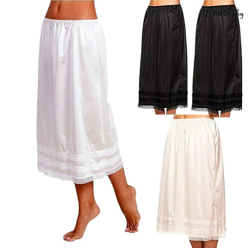 AliExpress - Womens Lace Underskirt Petticoat Under Dress Long Skirt Safety Skirt Oversize
