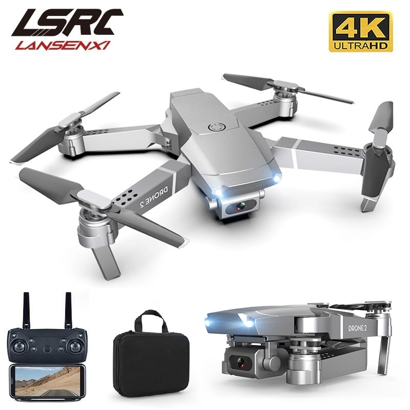 LSRC 2021 New E68pro Mini Drone 4K 1080P HD Camera WiFi Fpv Air Pressure Height Maintaining Foldable Quadcopter RC Dron Toy