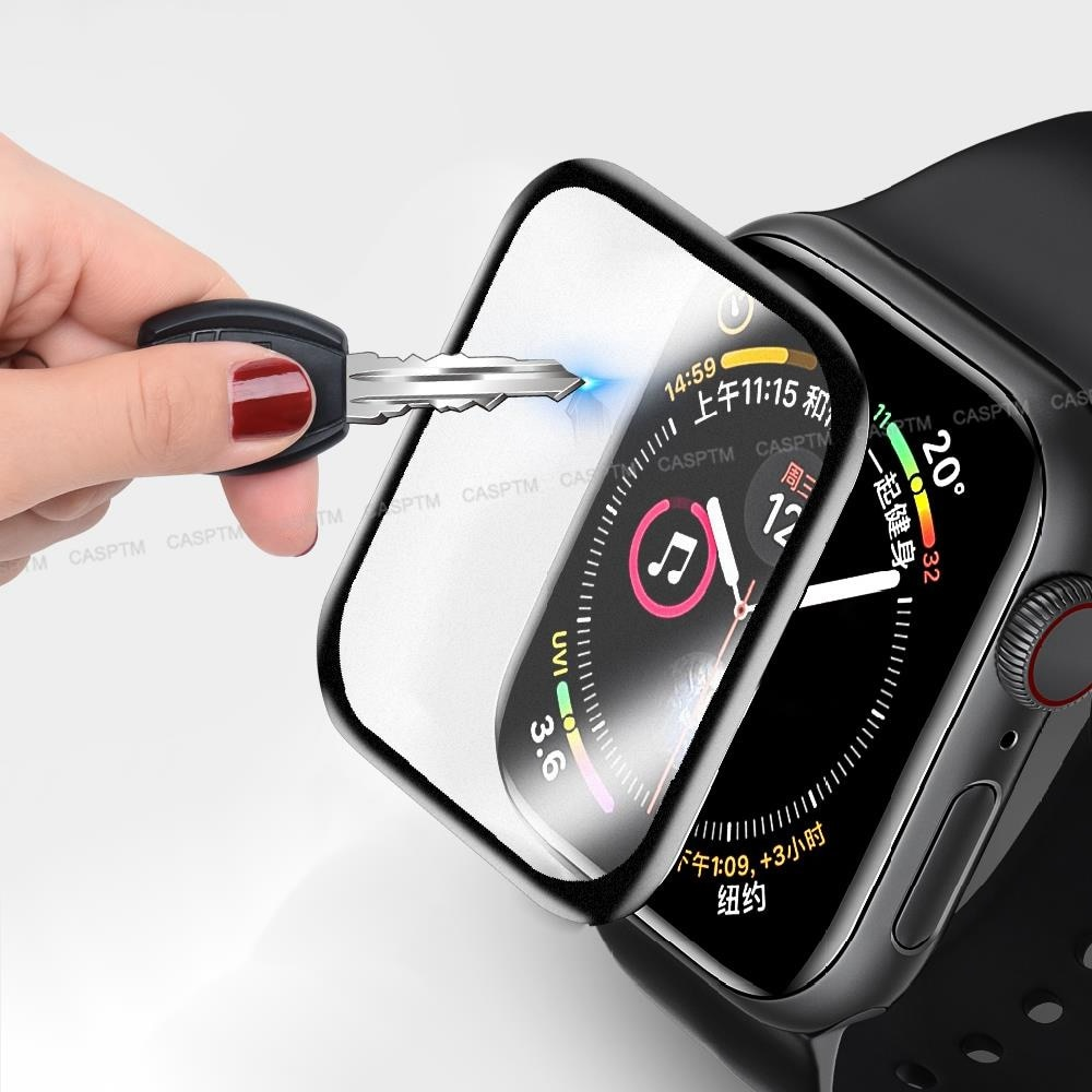 Full Cover Tempered Glass For Apple Iwatch 2 3 38 Mm 42 Mm Bended Edge Matte Screen Movies Accessory