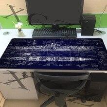 XGZ personnalisé grand jeu tapis de souris noir couture Pirate bateau plan maison ordinateur clavier Table tapis Slip 900x400/600x300 Xxl