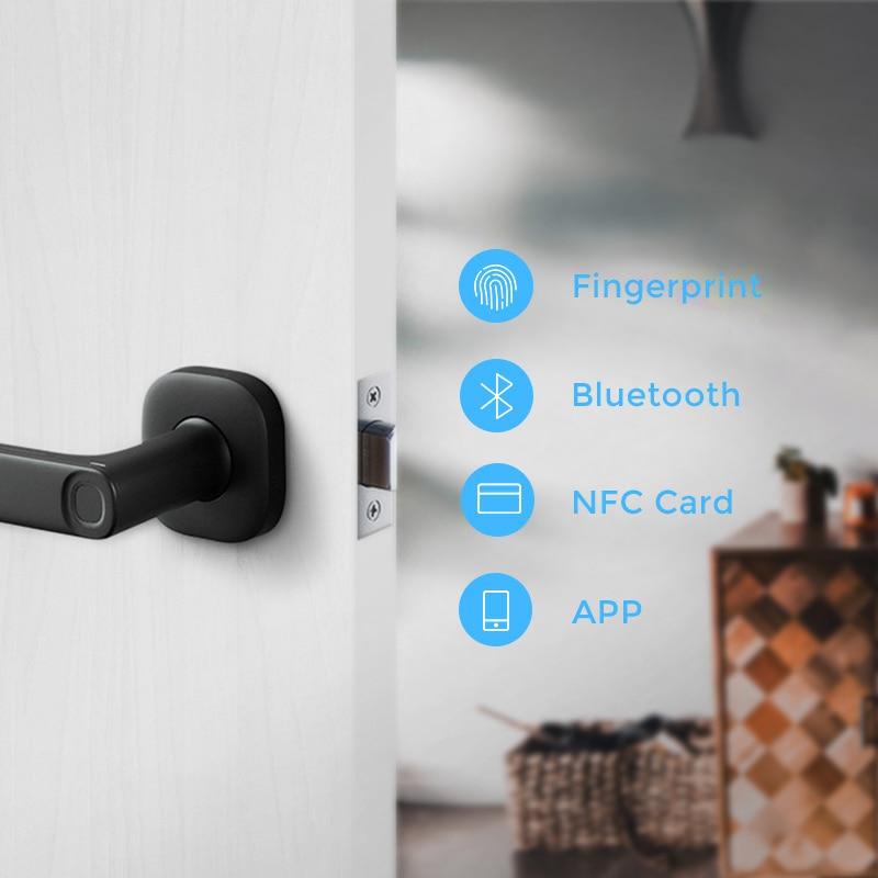 Heyido LQ1 Tuya APP Remotely Smart Door Lock Biometric Fingerprint Smart Lock , Bluetooth Phone APP NFC Card Unlock Gateway lock