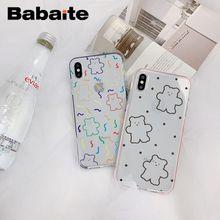 Babaite INS Korea super feuer candy farbe bär Transparent Telefon Abdeckung Fall für iPhone 8 7 6 6SPlus X 5 5S SE XR XS XSMAX Fundas