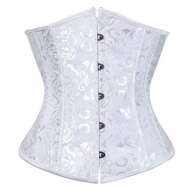 Женский корсет, корсет, топ, бюстье, корсеты на талию, винтажный корсет в стиле стимпанк, обтягивающий живот, Белый Готический Черный корсет под грудью | Женская одежда | АлиЭкспресс