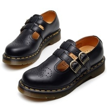 Women's shoes leather low-top Martin shoes,Mary Jane Loafers low-top shoes,women's British style fas