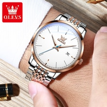 OLEVS Automatic Mechanical Men Watches Luxury Brand Stainless Steel Mechanic Watch Men Casual Dress