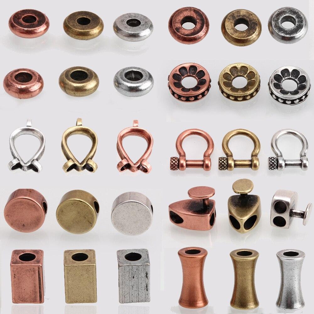Grânulos de espaçador contas antigas para pilar redonda geométrica de aço inoxidável contas descobertas 2 3 4 6mm buraco diy contas para fazer jóias