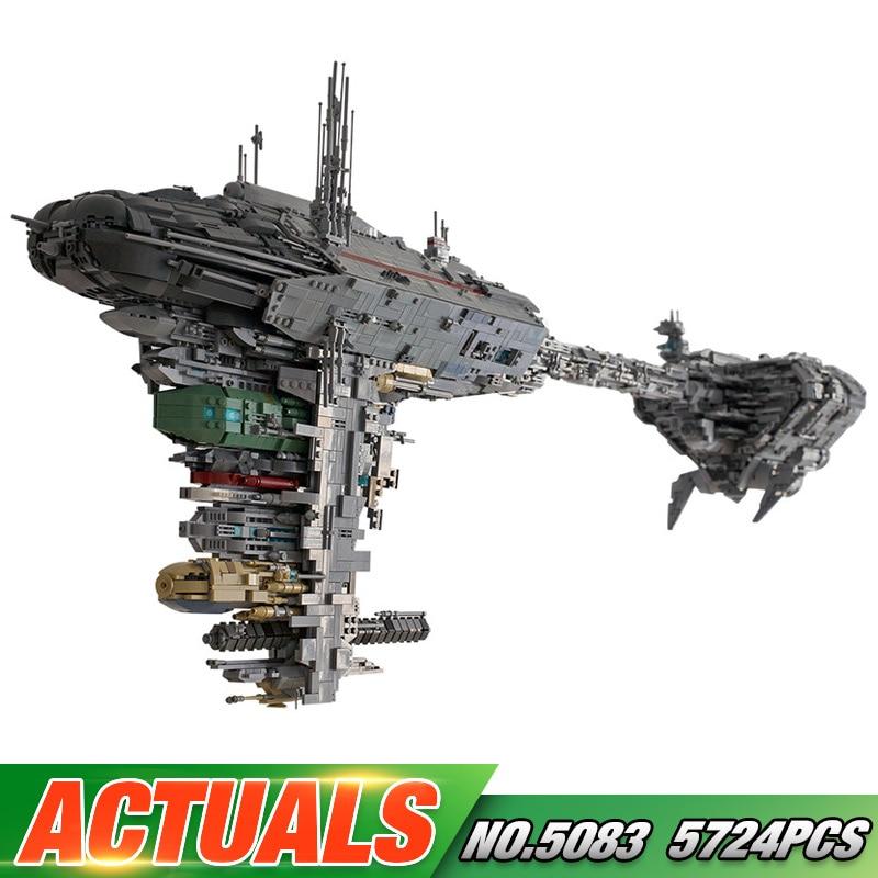 Juguetes De Guerra Compatible con Lepining MOC 5083 UCS nebulón-B médico modelo de fragata de bloques de construcción ladrillos niños regalos de navidad