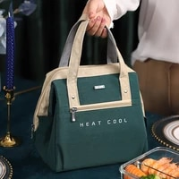 large lunch bag women waterproof concise convenient fresh cooler bags thermal breakfast food box portable picnic travel wy280