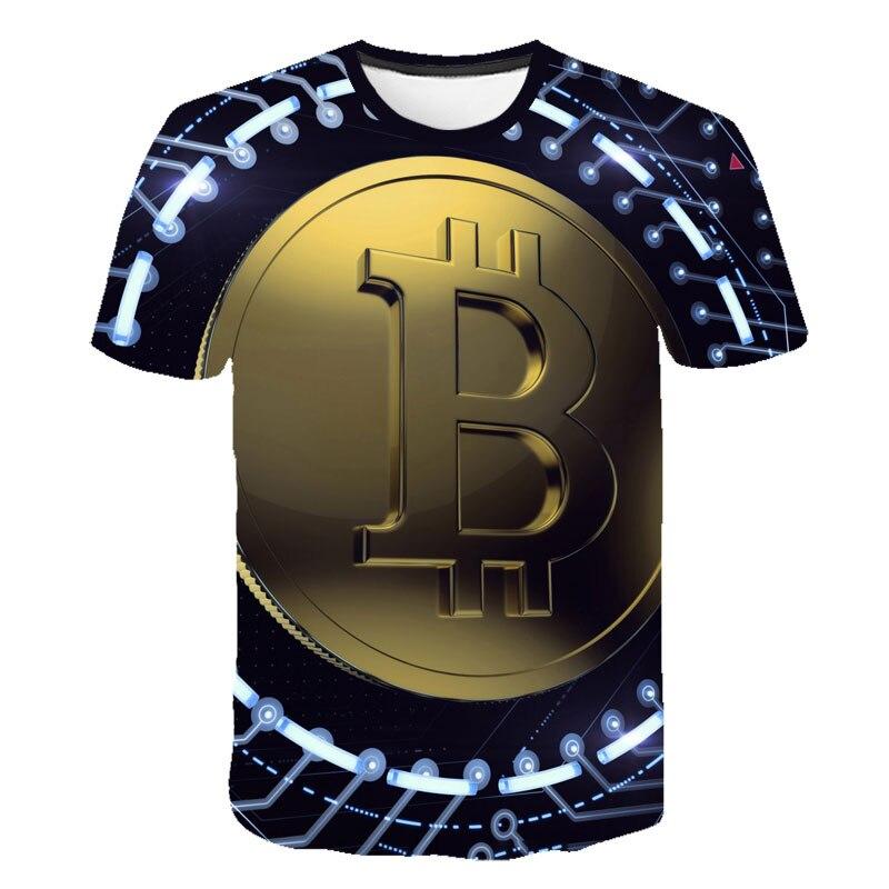 Summer New Men/Women t shirt 3D Printed Bitcoin Tee Casual Top Streatwear Funny Design Short Sleeve Tshirt S-6XL Custom Top