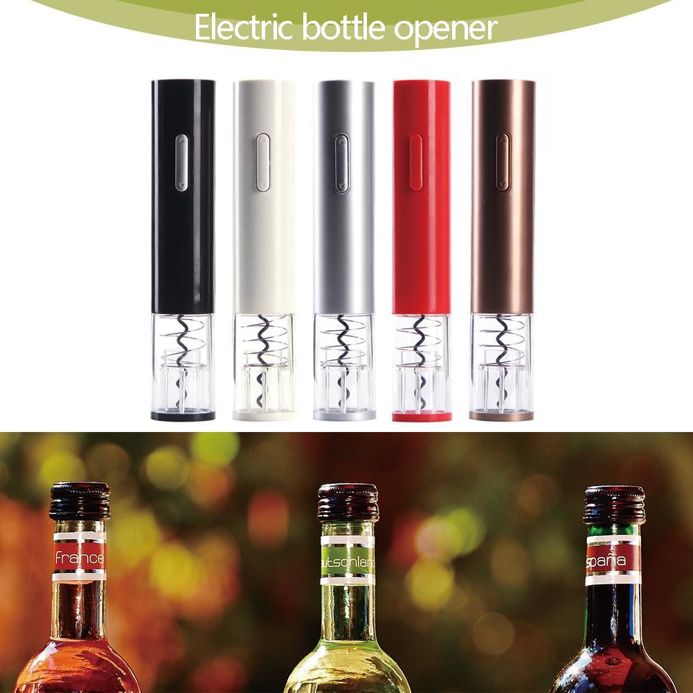 Abridor automático de vinos para vino tinto, batería seca, Kit de abridor de botellas eléctrico, sacacorchos sin cuerda con cortador de papel de aluminio, herramientas de cocina