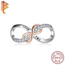 BELAWANG nouvelle mode en argent Sterling 925 perles vous aiment pour toujours infini perles idéal pour Bracelet pour les femmes fabrication de bijoux