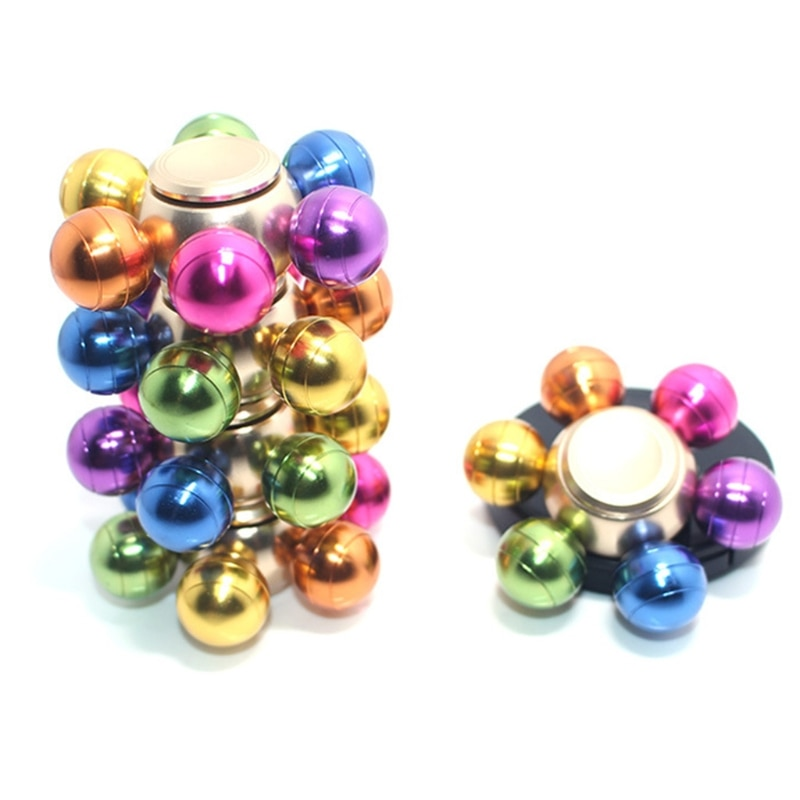 Colorful Detachable Finger Fidget Spinner Spinning Stress Relief Toy Adults Kids Toy enlarge
